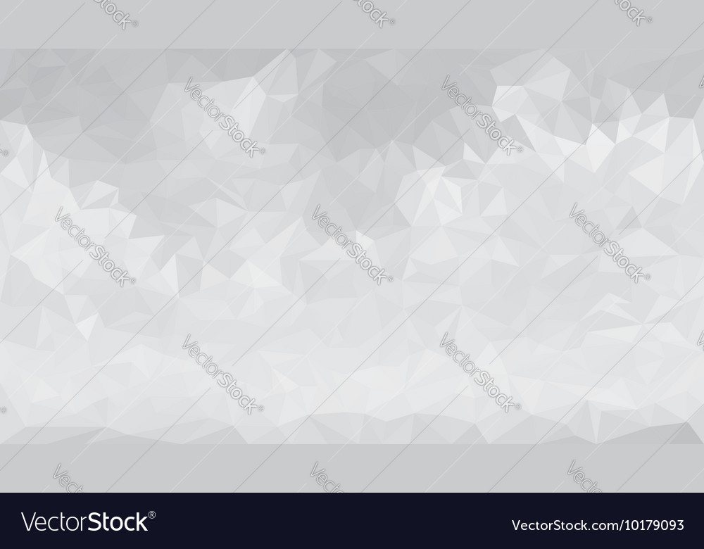 Abstract gray low polygon triangular background vector