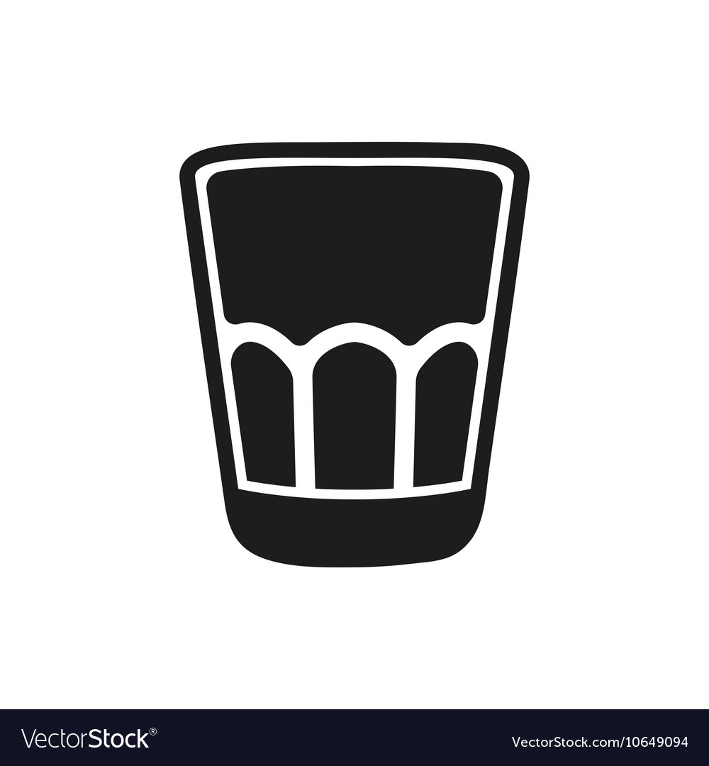 Shot glass icon isolated on white background vector