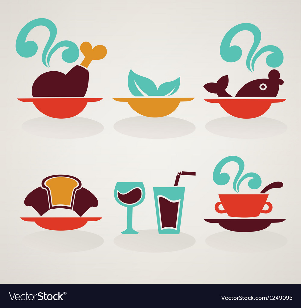 Common food in infographic style vector