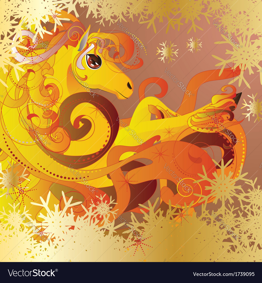 Flaming horse vector