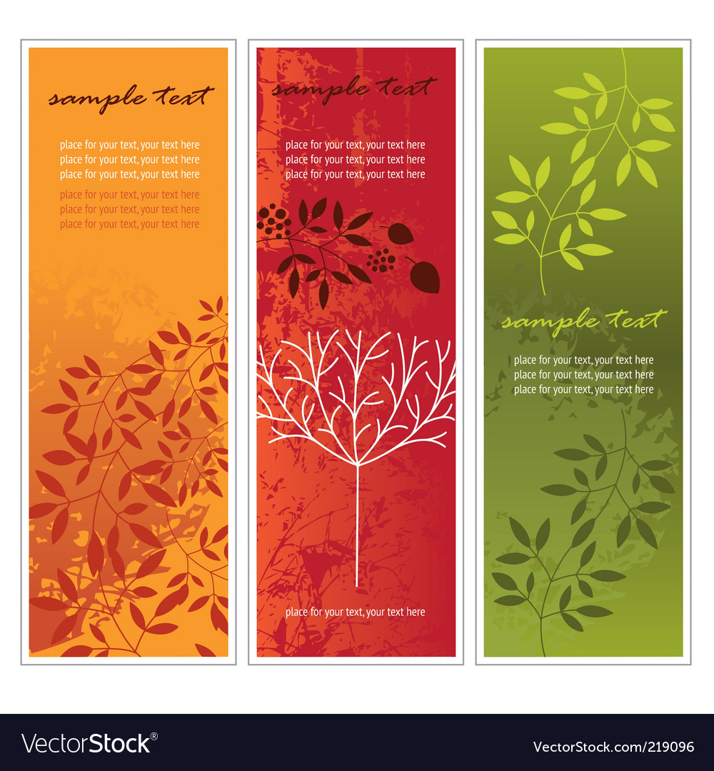 Vertical autumn banners vector