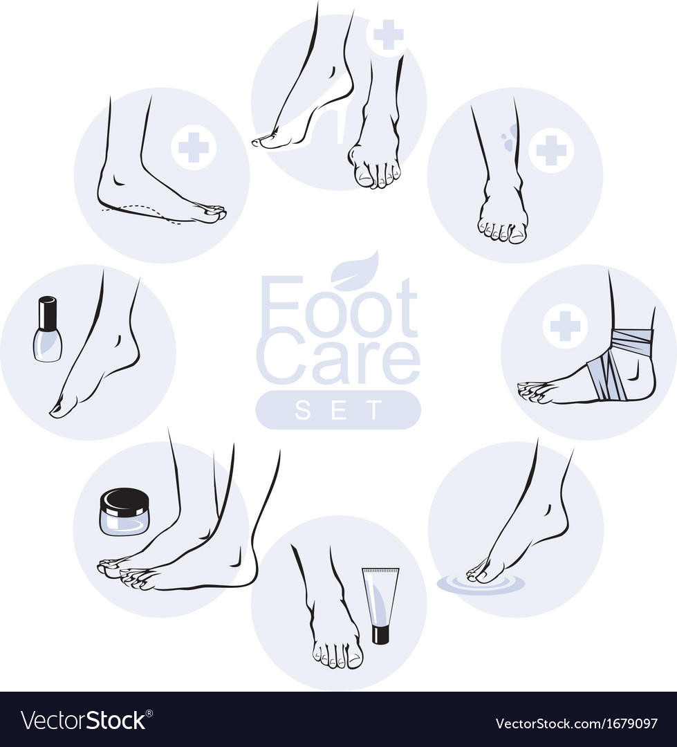 Foot care set vector