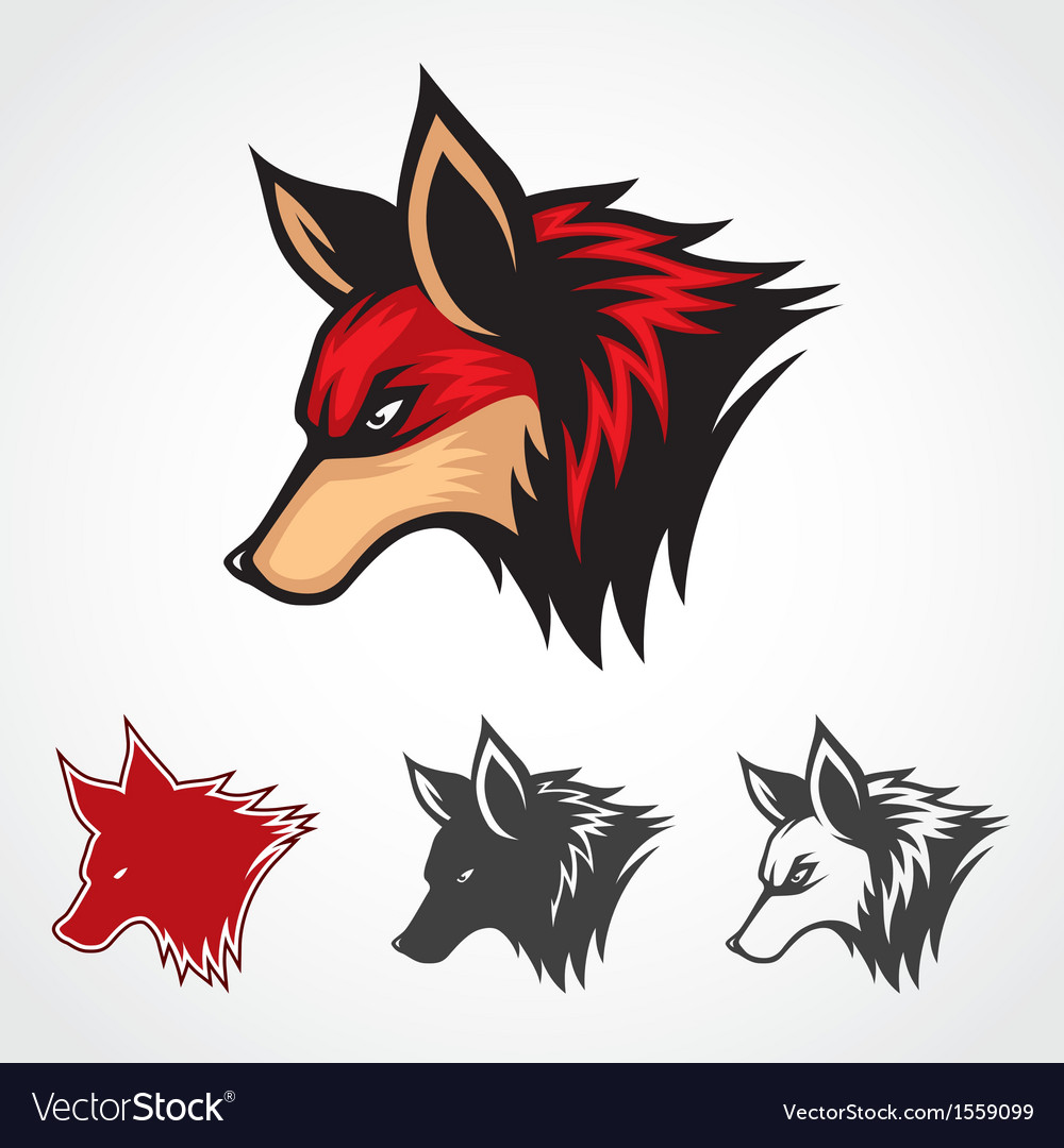 Red fox symbol vector