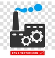 Factory Building Eps Icon vector image