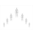Human body in molecular vector image