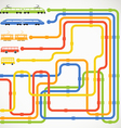 traffic scheme vector image
