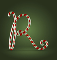 Candy cane abc r vector