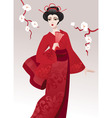pretty geisha vector image