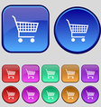 shopping cart icon sign A set of twelve vintage vector image