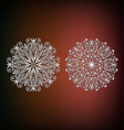 Decorative abstract snowflakes vector image vector image