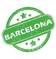 Barcelona green stamp vector image