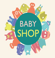 collection of baby and children fashion clothes vector image