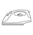 iron clothes appliance icon vector image
