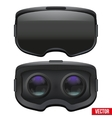 Original stereoscopic 3d VR headset inside vector image