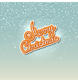 Winter Background with the Words Merry Christmas vector image