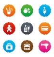 Hotel apartment service icons Fitness gym vector image