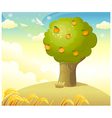 Tree With Oranges vector image vector image