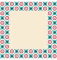 Card frame with geometrical pattern in retro vector image vector image