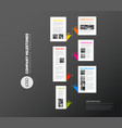 vertical infographic timeline report template vector image