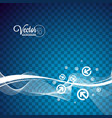 abstract wave design with arrows on transparent vector image vector image