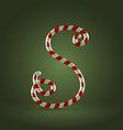 Candy cane abc s vector