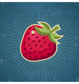 Retro Strawberry vector image