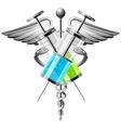 Syringe with medicine vector image