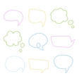Speech Bubble Handdrawn Set vector image