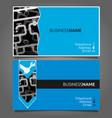 business card for repair waterpipe vector image