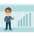 Businessman character flat style Businessman with vector image
