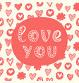 love you concept valentines day greeting card vector image