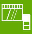 memory card icon green vector image