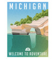 michigan united states travel poster vector image