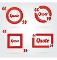 Set of Quote template with 3d red form vector image