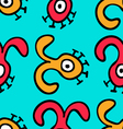Seamless pattern UFO-8 vector image