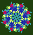 abstract circle floral ornamental fractal vector image