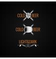 Beer Vintage Logo Set Background vector image