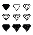 diamond set in black color vector image