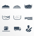 Different types of cargo vector image