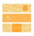 golden lace roses horizontal banners set pattern vector image