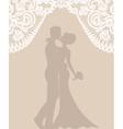 groom and bride on beige background vector image