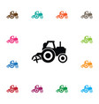 isolated agriculture transport icon combine vector image