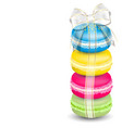 Macaroons and ribbon vector image