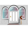 porch door vector image