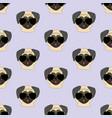 pug dog in glasses pattern vector image