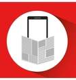 smartphone digital newspaper design vector image