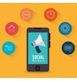 smartphone social network marketing vector image