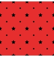 Black polka dot geometric and stars seamless vector image