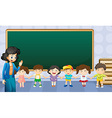 Teacher and students in the classroom vector image