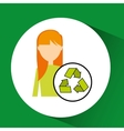 girl concept ecological recycle vector image